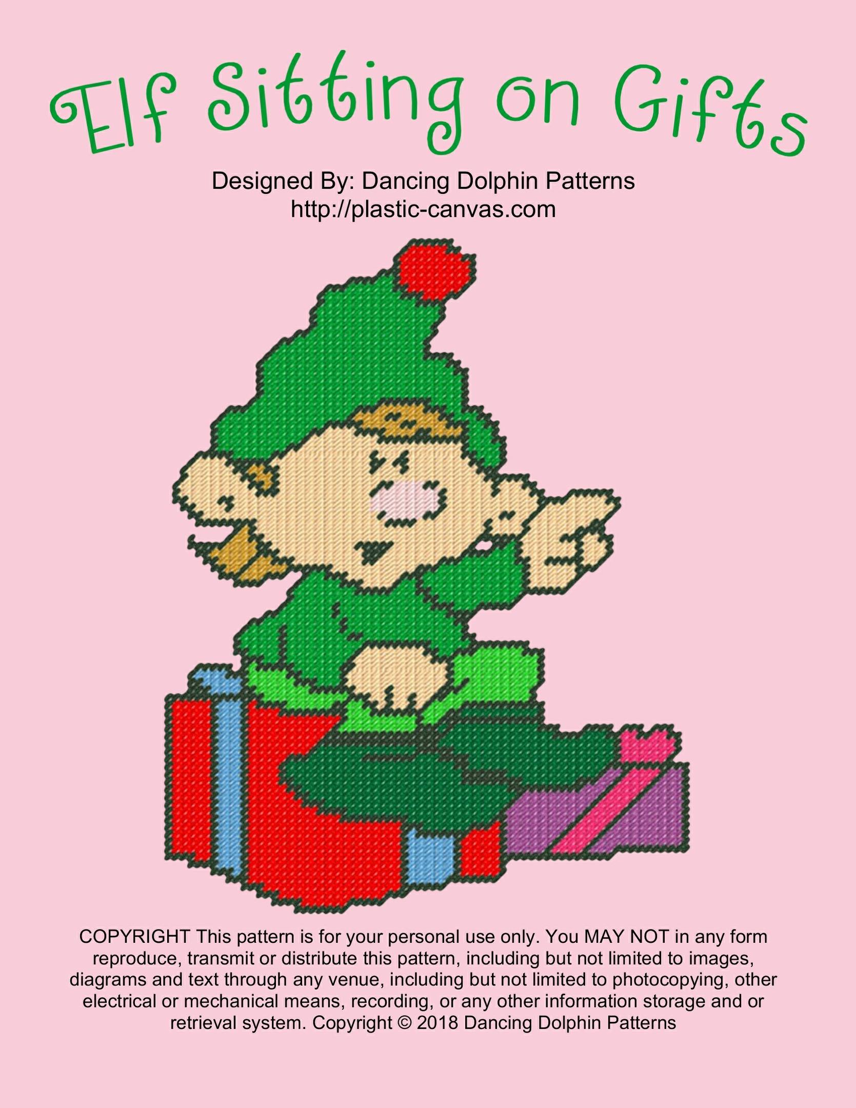 613 - Elf Sitting on Gifts