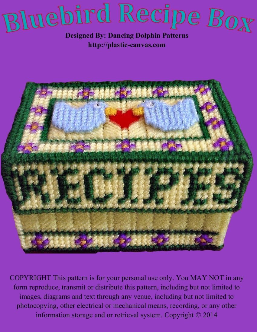 179 - Bluebird Recipe Box