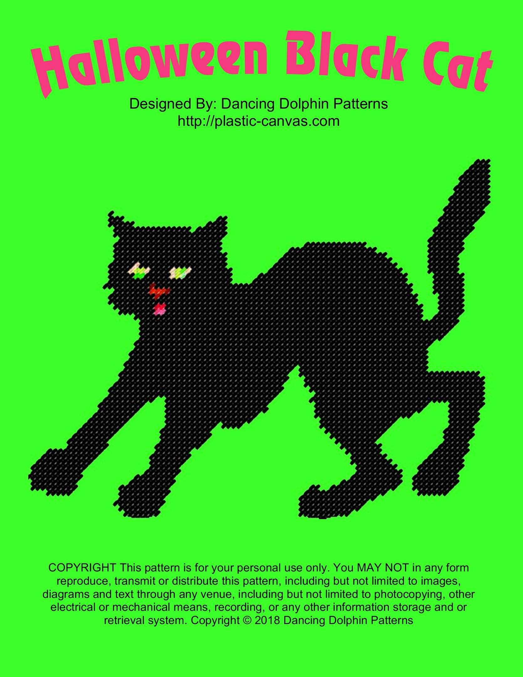 624 - Halloween Black Cat