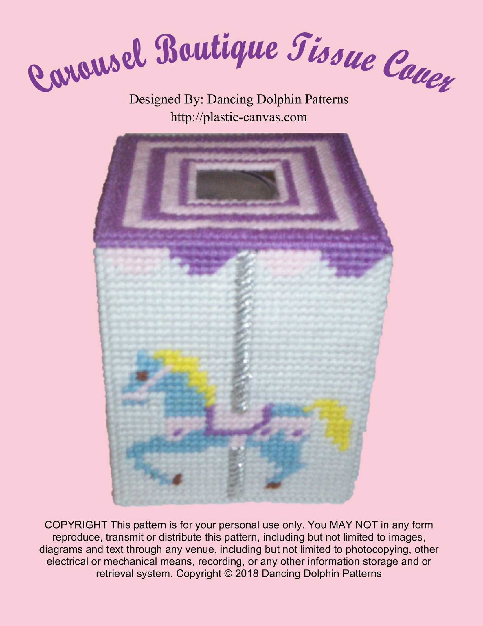 497 - Carousel Boutique Tissue Cover