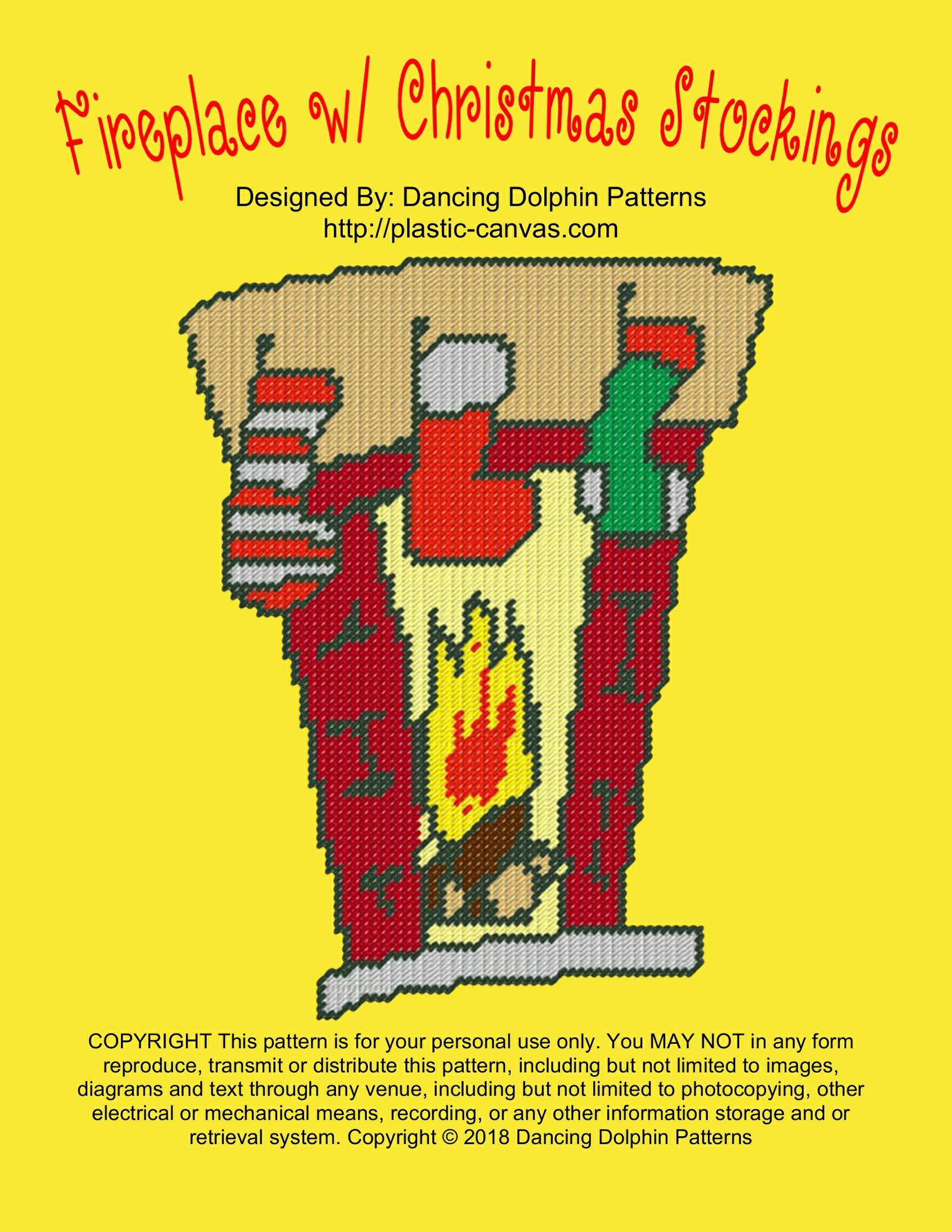 615 - Fireplace w/ Christmas Stockings