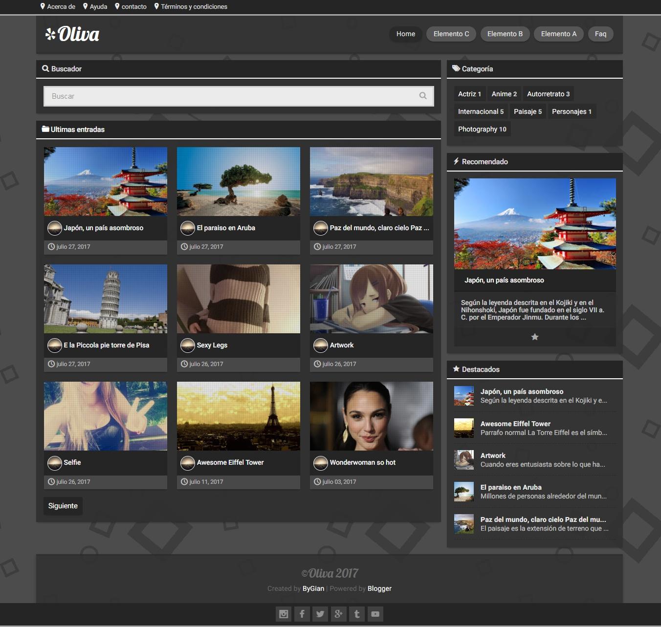 Oliva@1.0.1.xml – plantilla personal blog responsive, blogger
