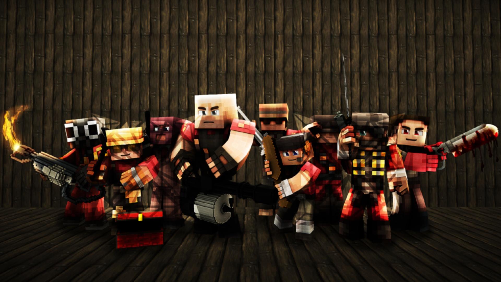 Team Fortress 2 Minecraft Wallpaper