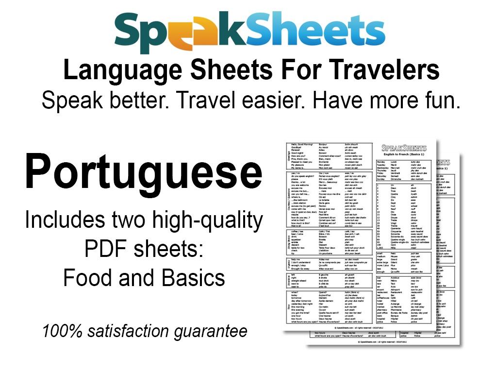 Portuguese Travel Language Set