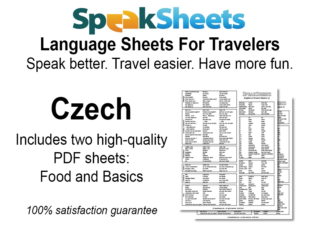 Czech Travel Language Set