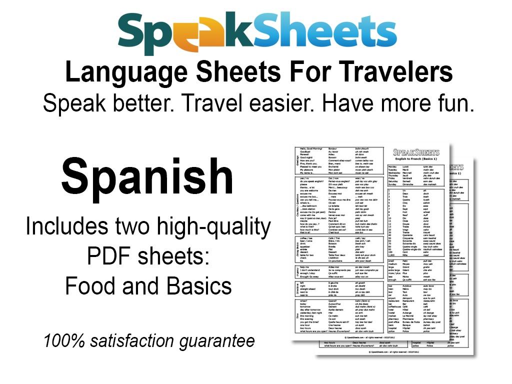 Spanish Travel Language Set