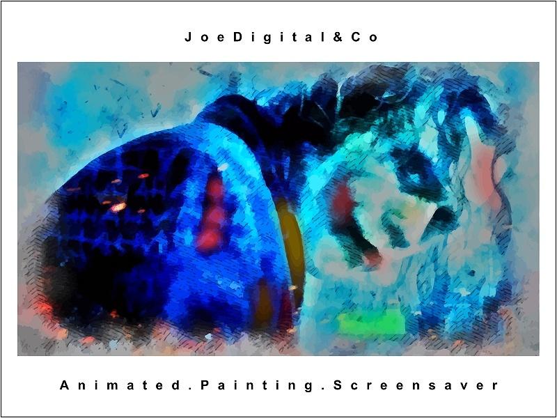 """ The Joker "" Screensaver ( Animated Painting"