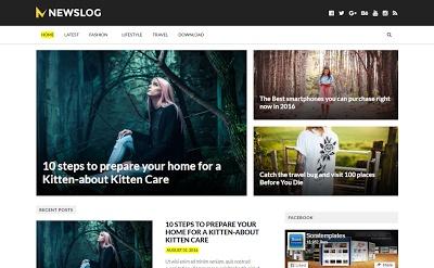 NewsLog Blogger Template Premium Version