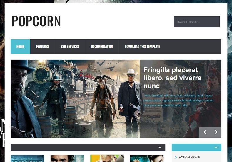 PopCorn Blogger Template Premium Version