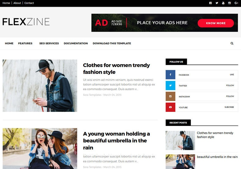 FlexZine Blogger Template Premium Version