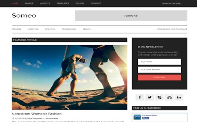 Someo Blogger Template Premium Version