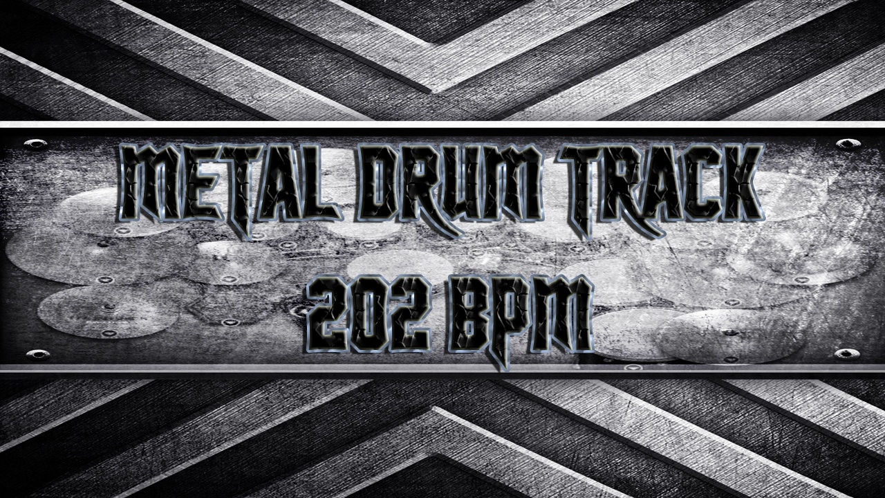Metal Drum Track 202 BPM