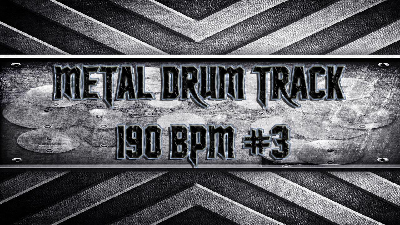 Metal Drum Track 190 BPM #3