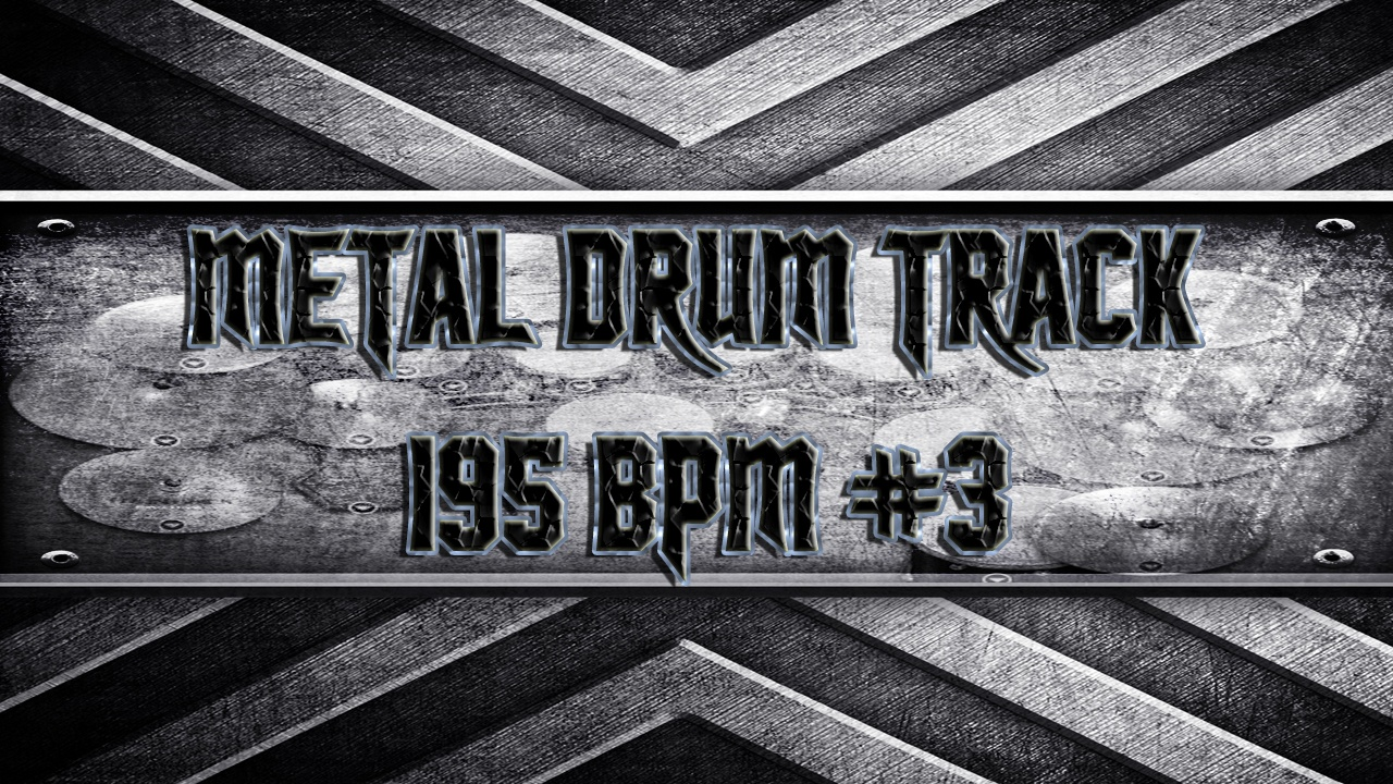 Metal Drum Track 195 BPM #3
