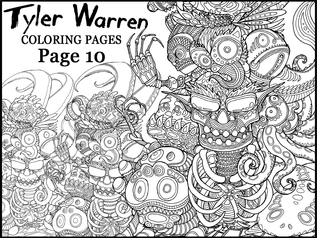 Page 10 - Tyler's Printable Coloring Pages