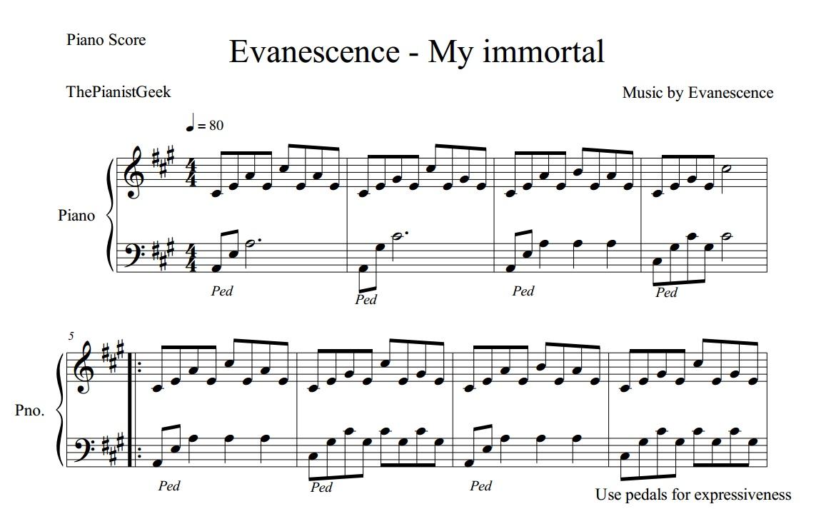 my immortal violin sheet music pdf