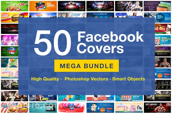 50 Facebook Covers With High Quality PSD Files