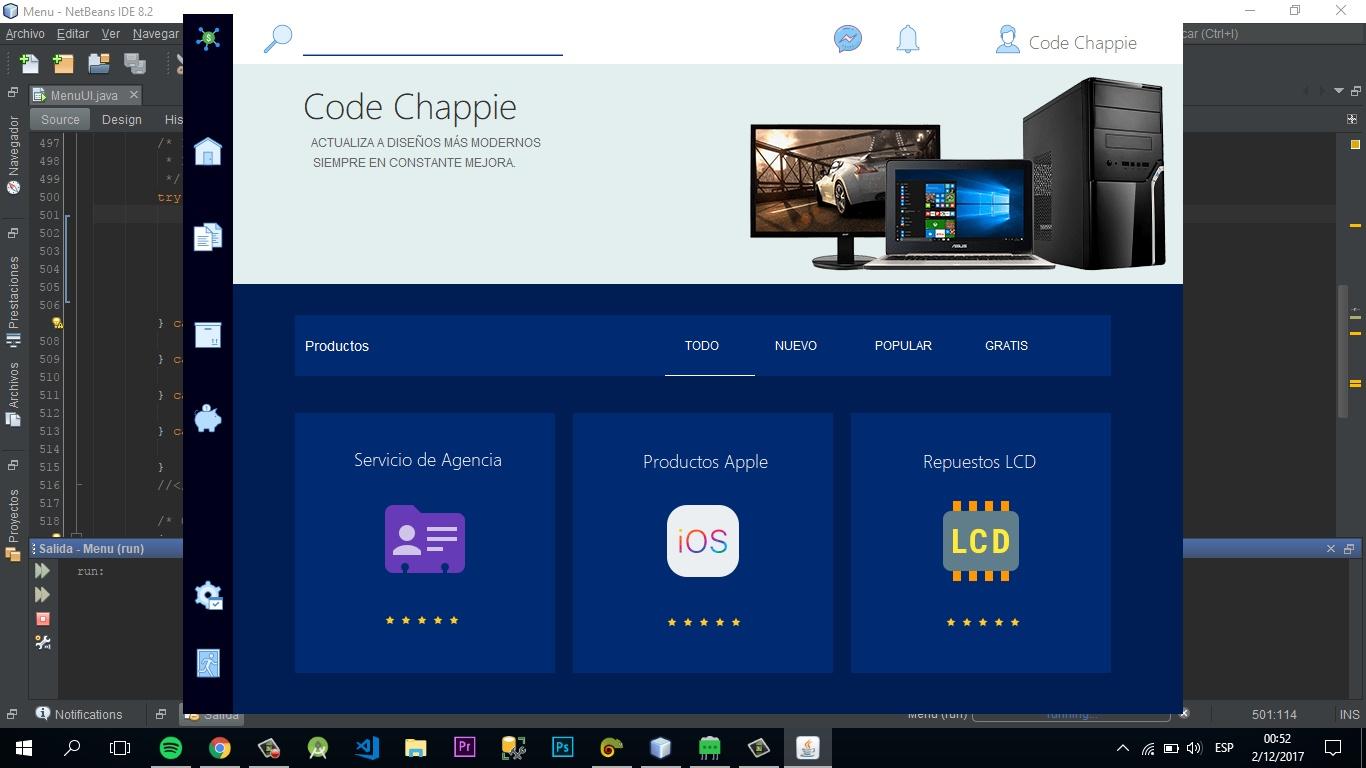Flast Design - Desktop UI