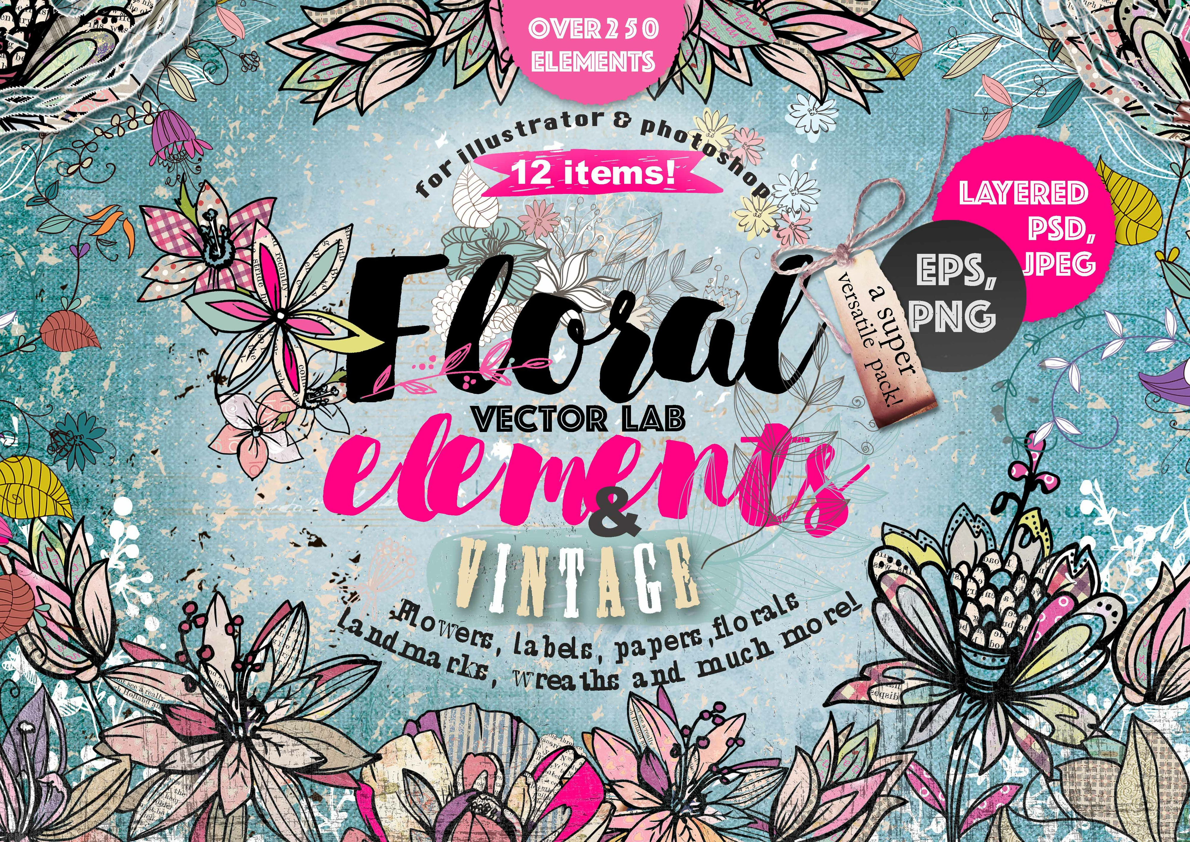 "40%OFF! VECTOR LAB ""FLORAl&VINTAGE"""