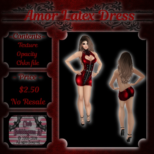 Amor Latex Dress -- CATALOG UPLOAD ONLY