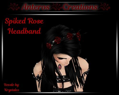 Accessories - Spiked Rose Headband