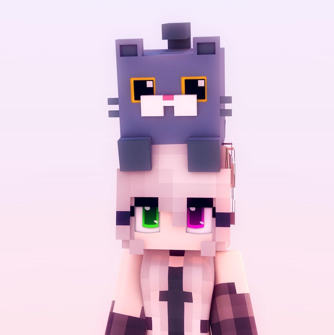 Gato Cuadrado Minecraft