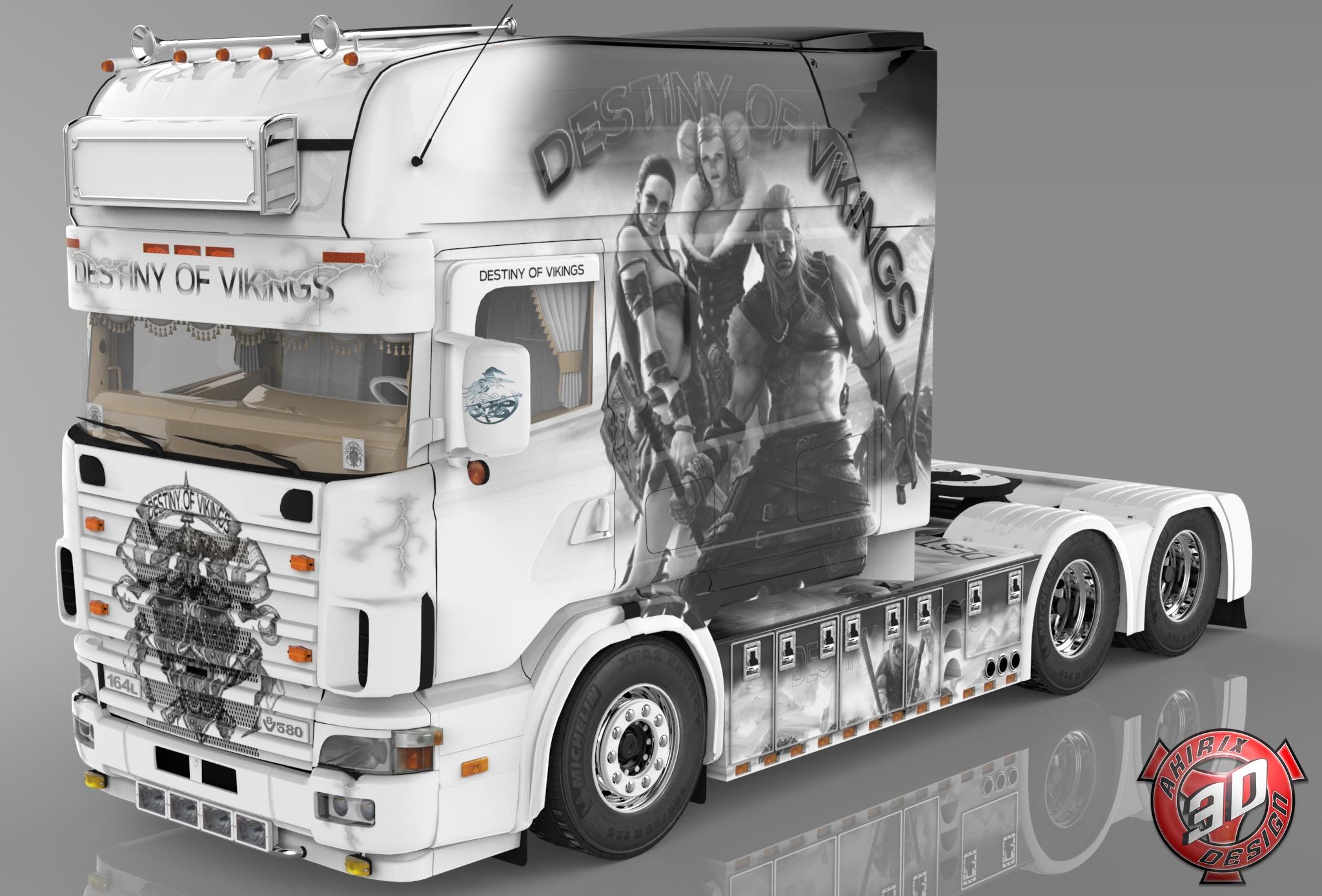 3D Scania 164L 580 V8 Destiny Of Vikings