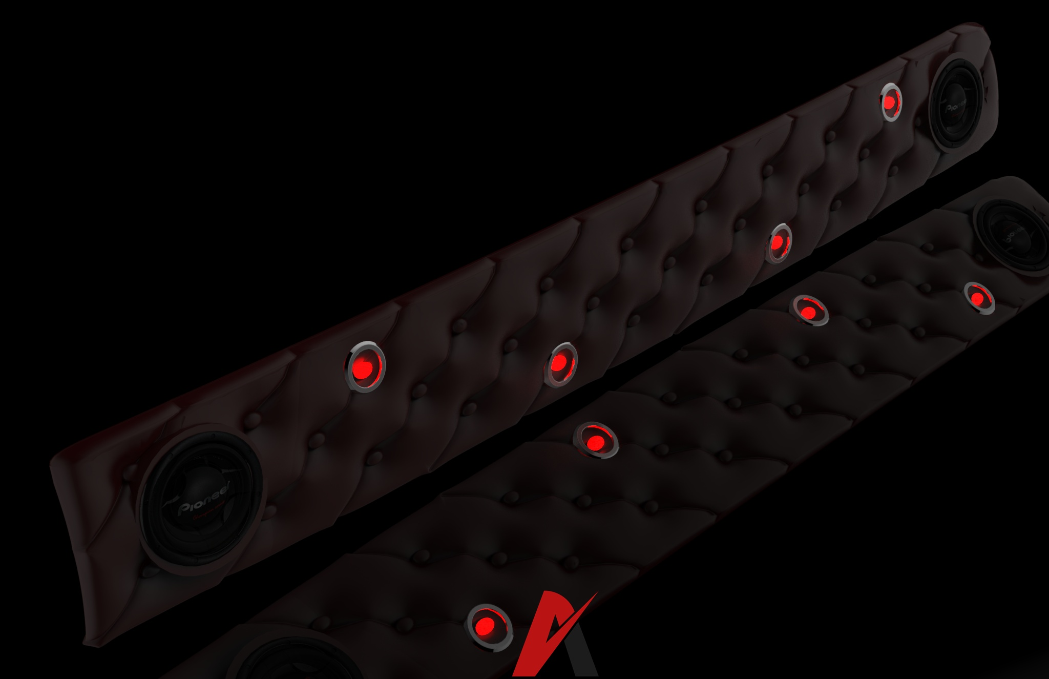 3D Scania Interior Leather Decoration Panel Model