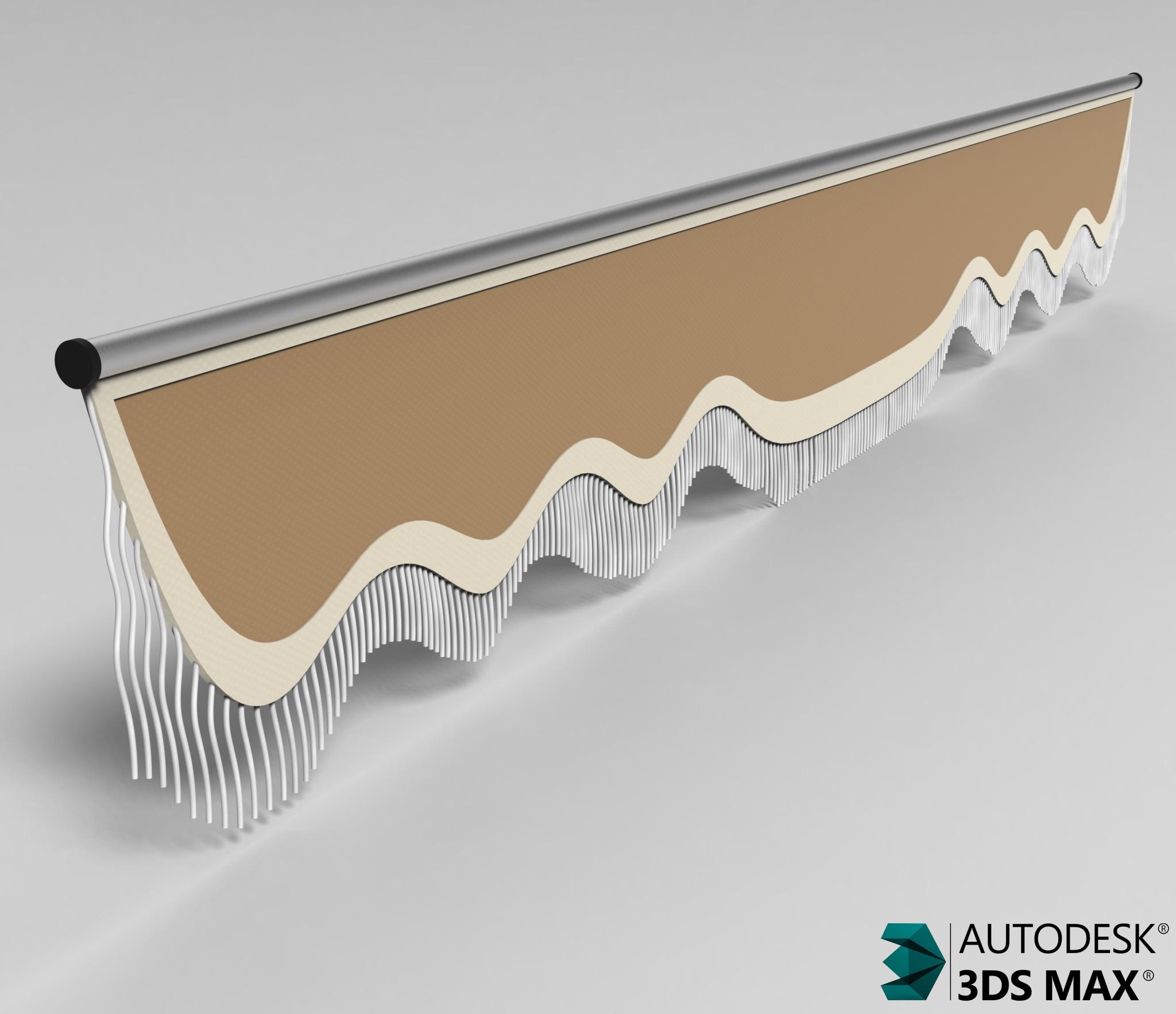 3D Front Curtain Model