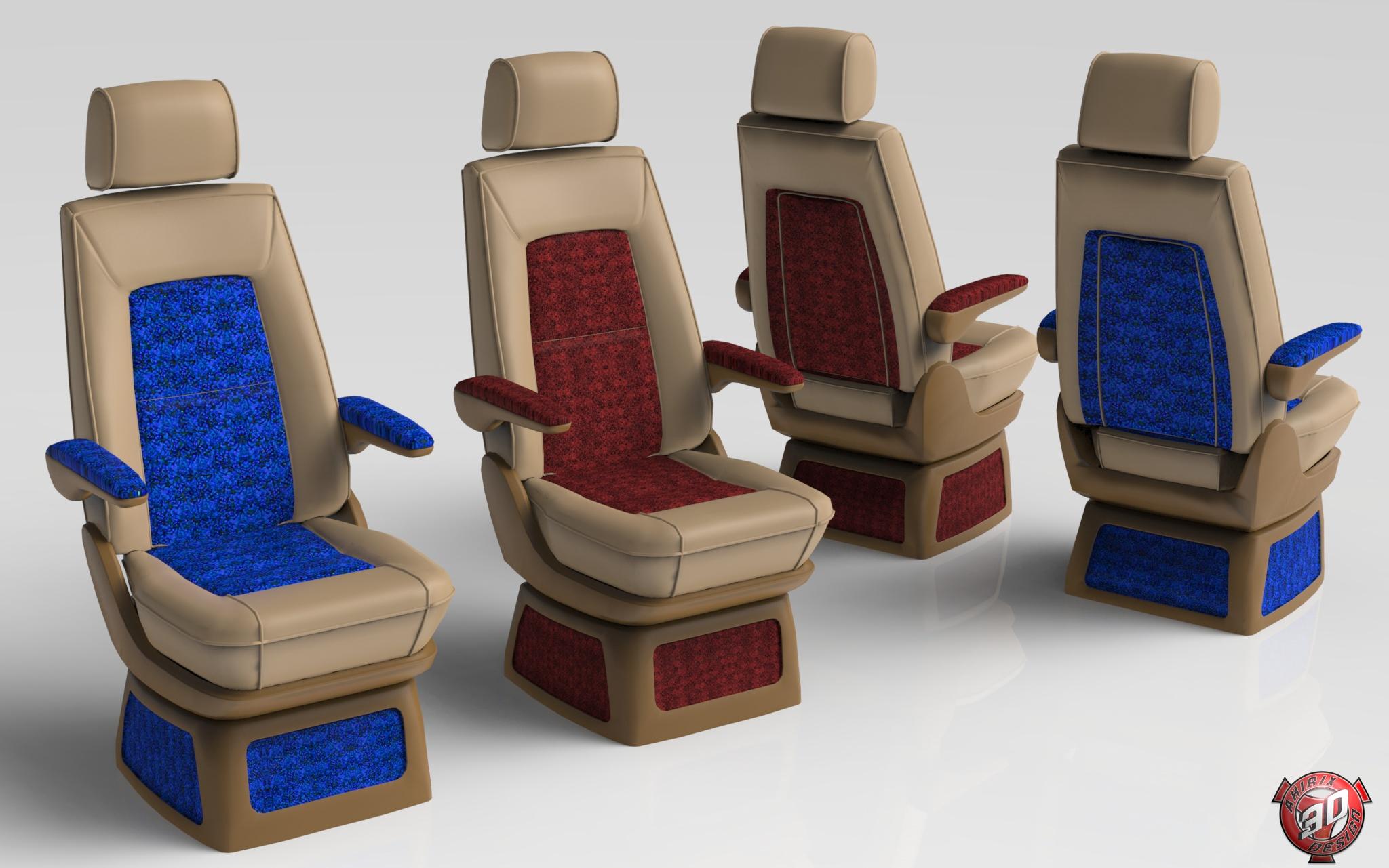 3D Truck Interior Seats Model Pack