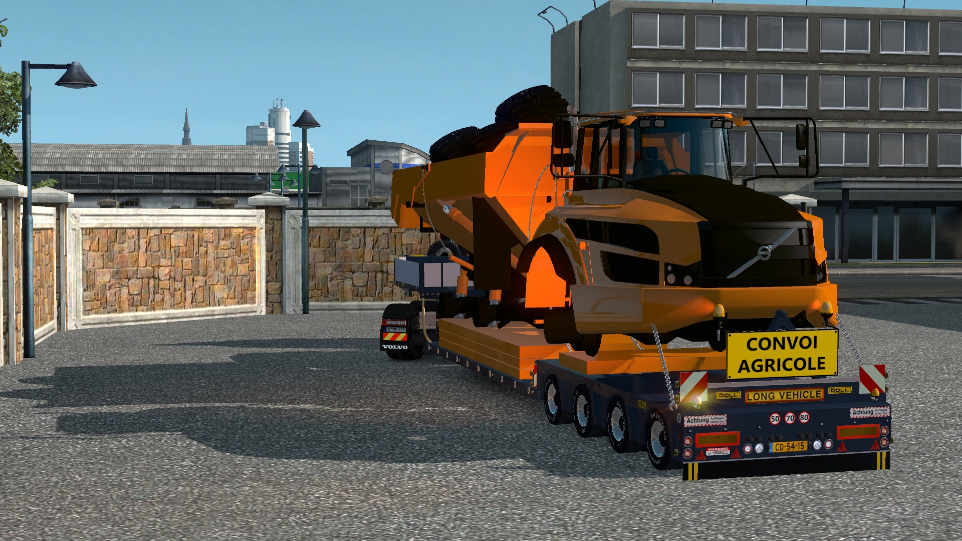 ETS2 4 Axled Doll Trailer With Volvo Dumper Version 2 Model
