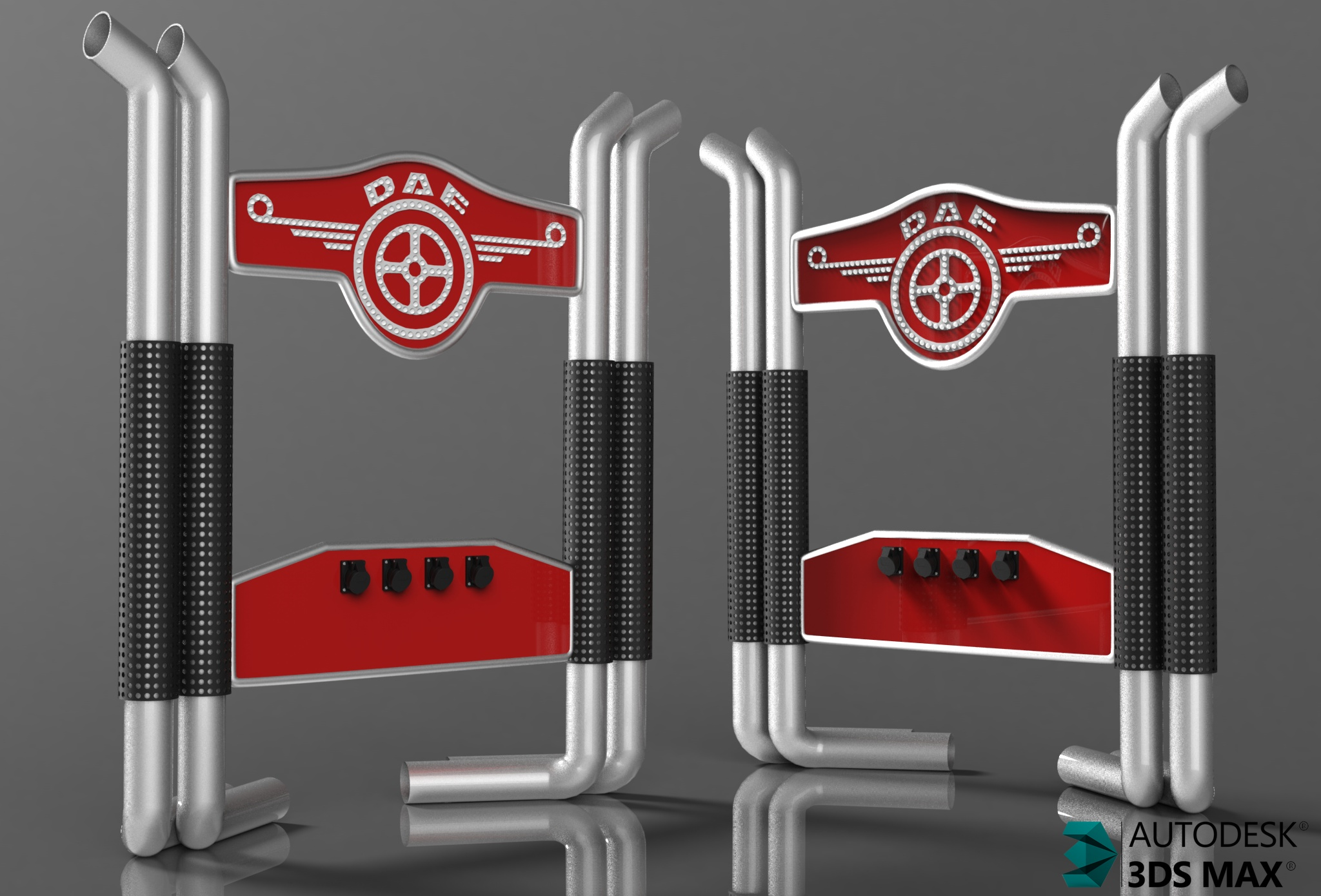 3D BackPipes For Daf