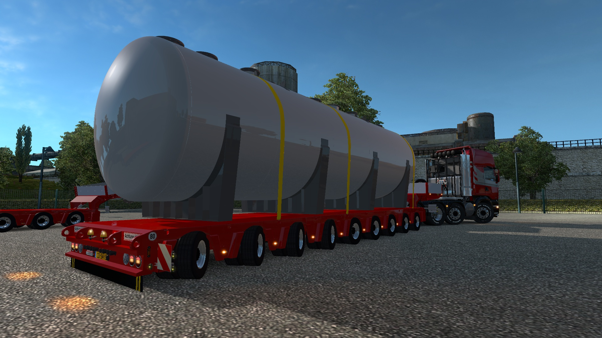 ETS2 9 Axles Doll Trailer With Tanker Load