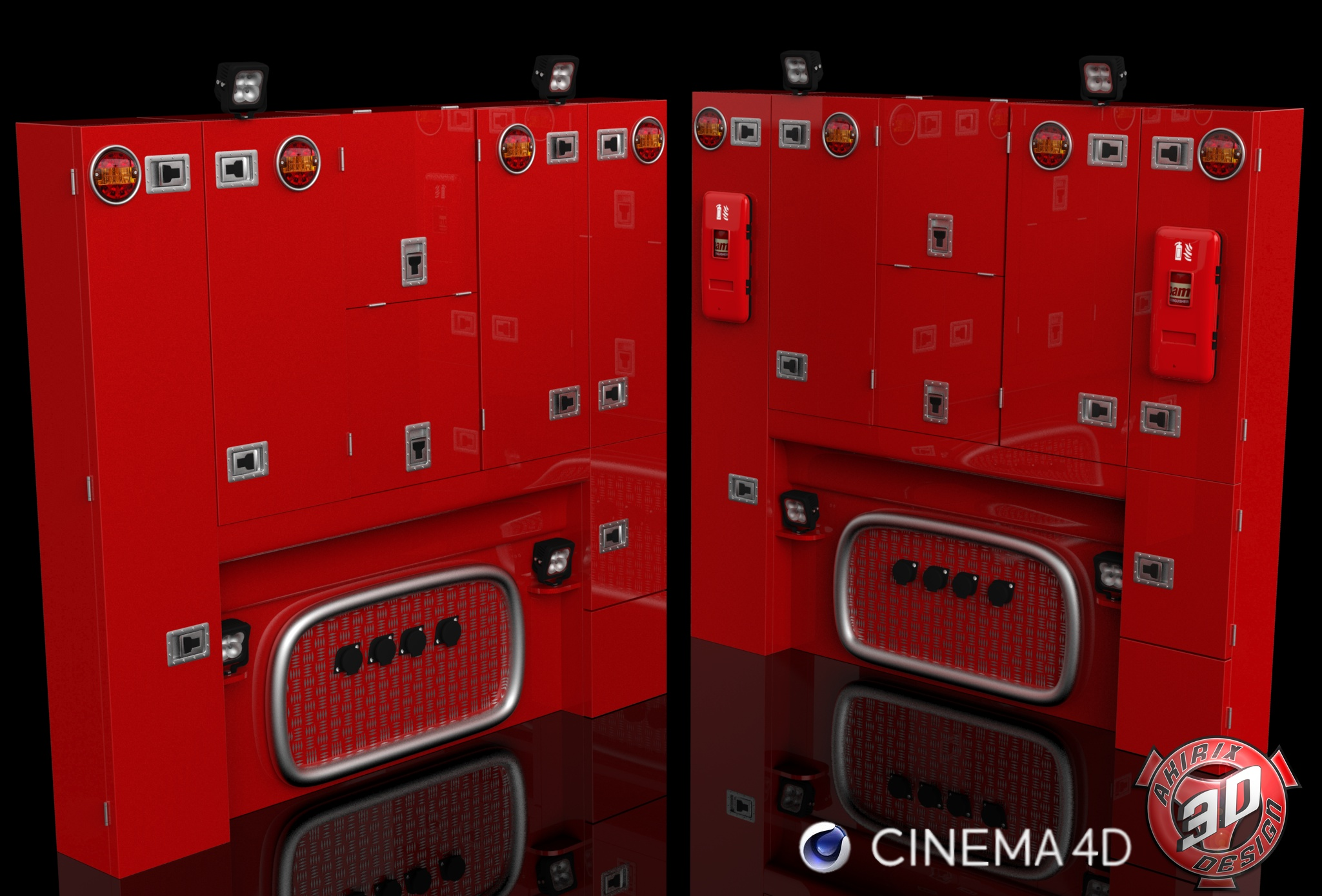 3D BackCabin Cabinets Pack Version II