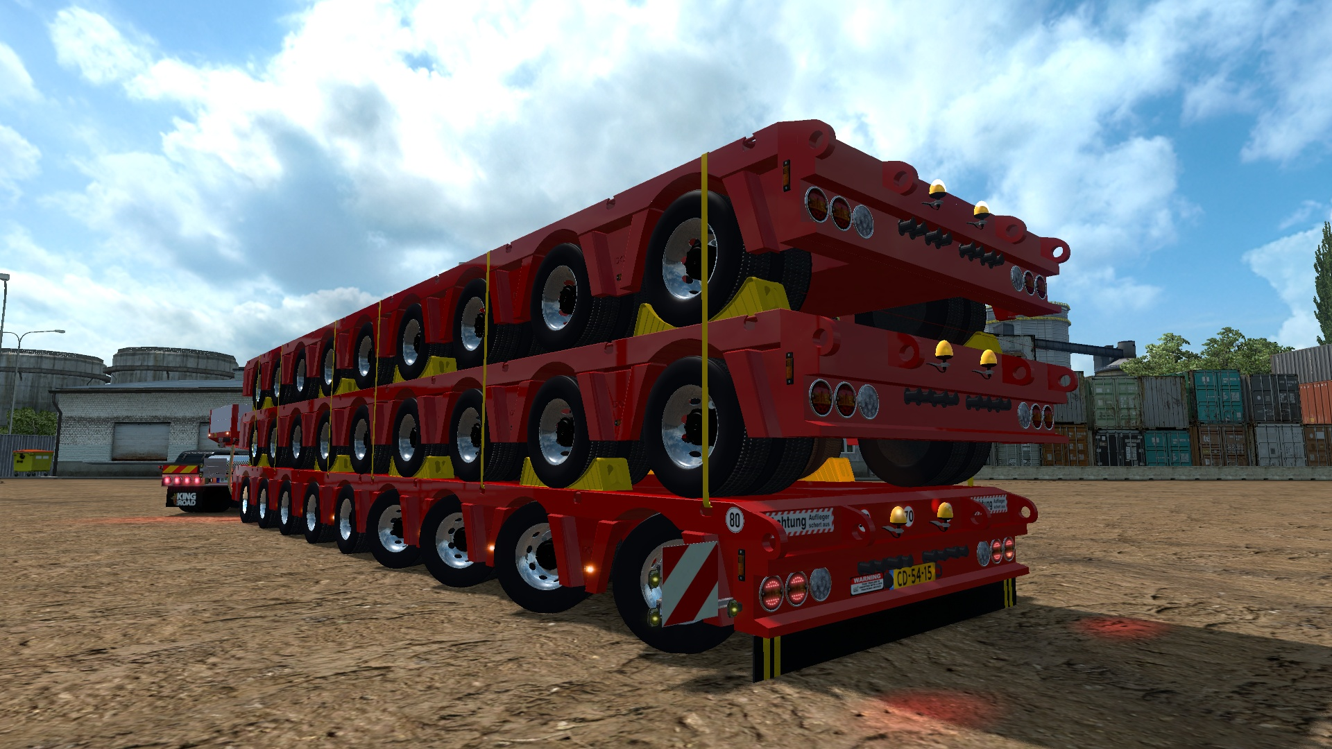 ETS2 9 Axles Doll Trailer With Trailers Load