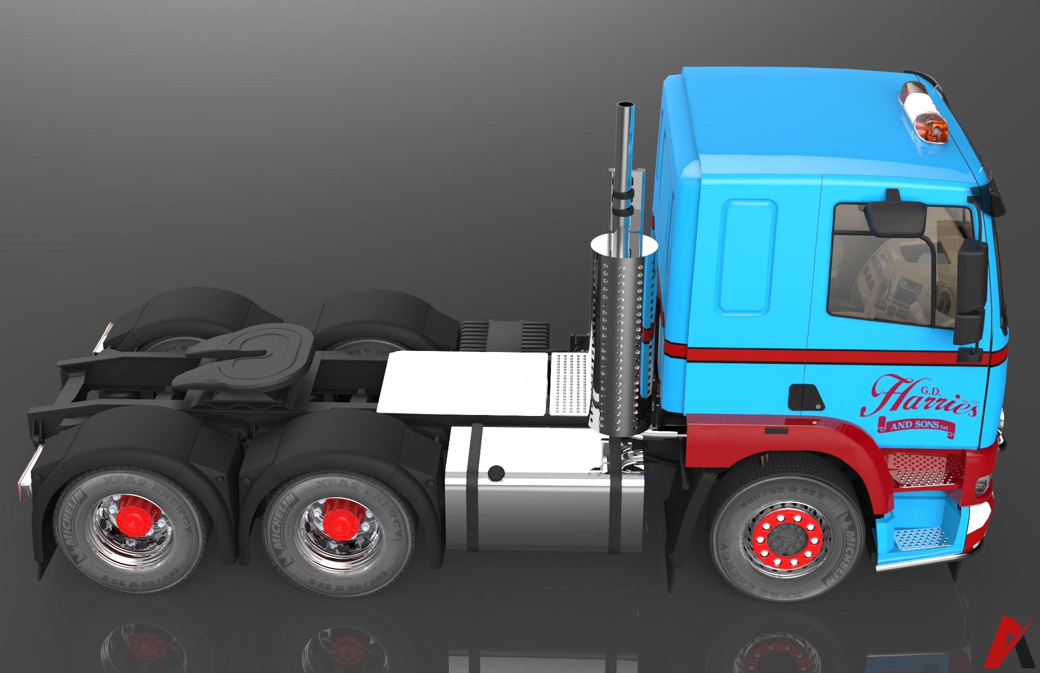 3D Foden Alpha 3000 6×4 LowCab Truck Model