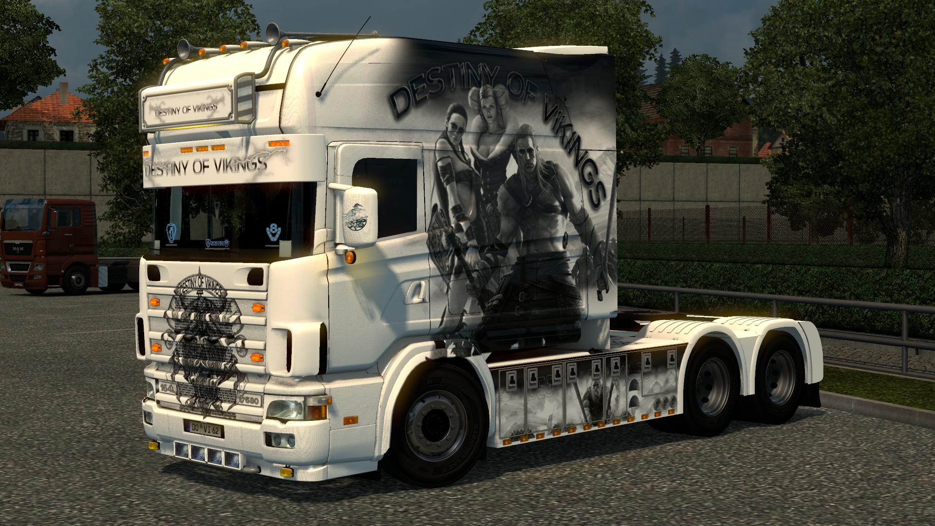 ETS2 Scania 164L 580 V8 Longline Destiny Of Vikings Edition Model