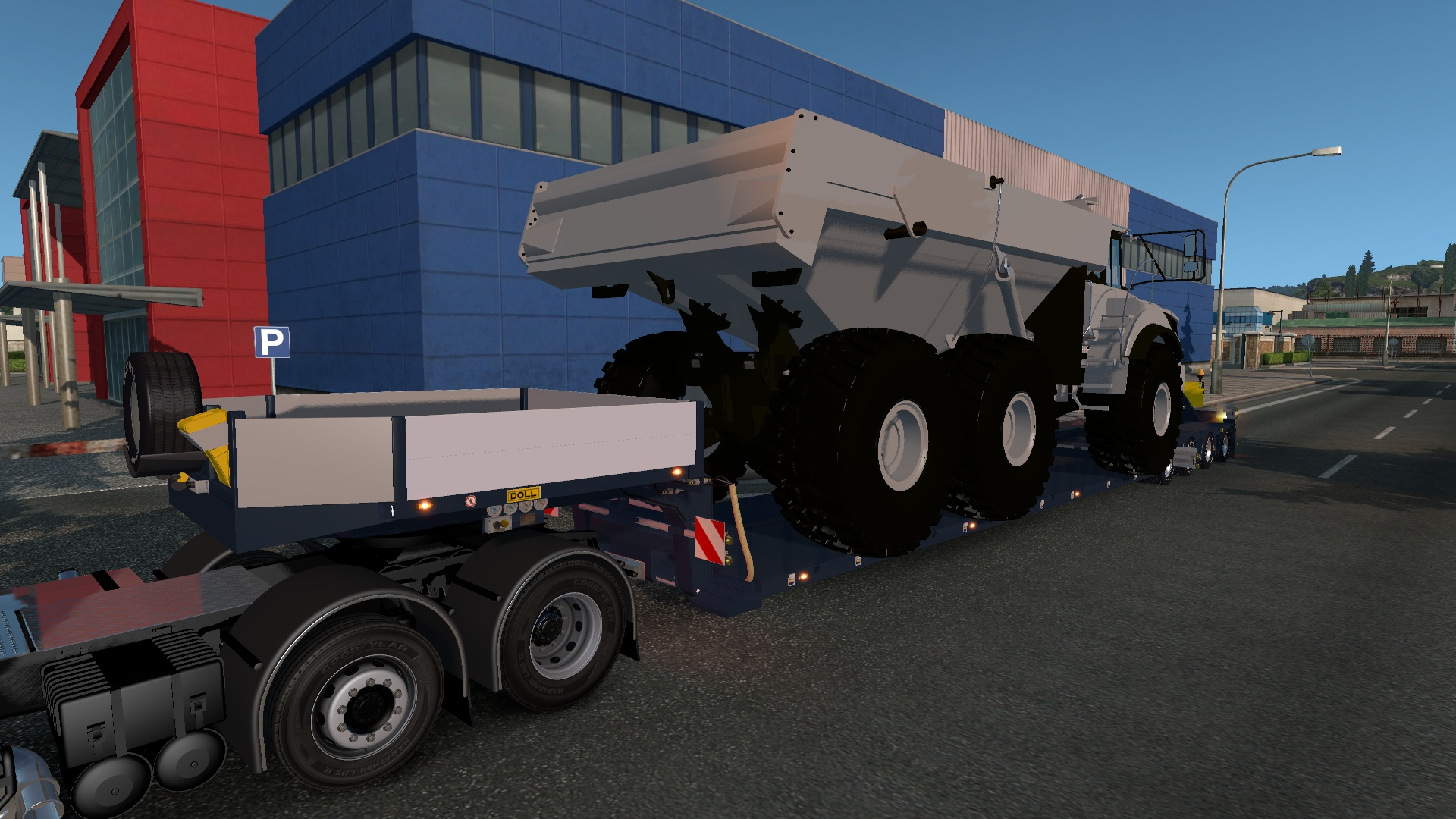 ETS2 4 Axled Doll Trailer With Volvo Dumper Load