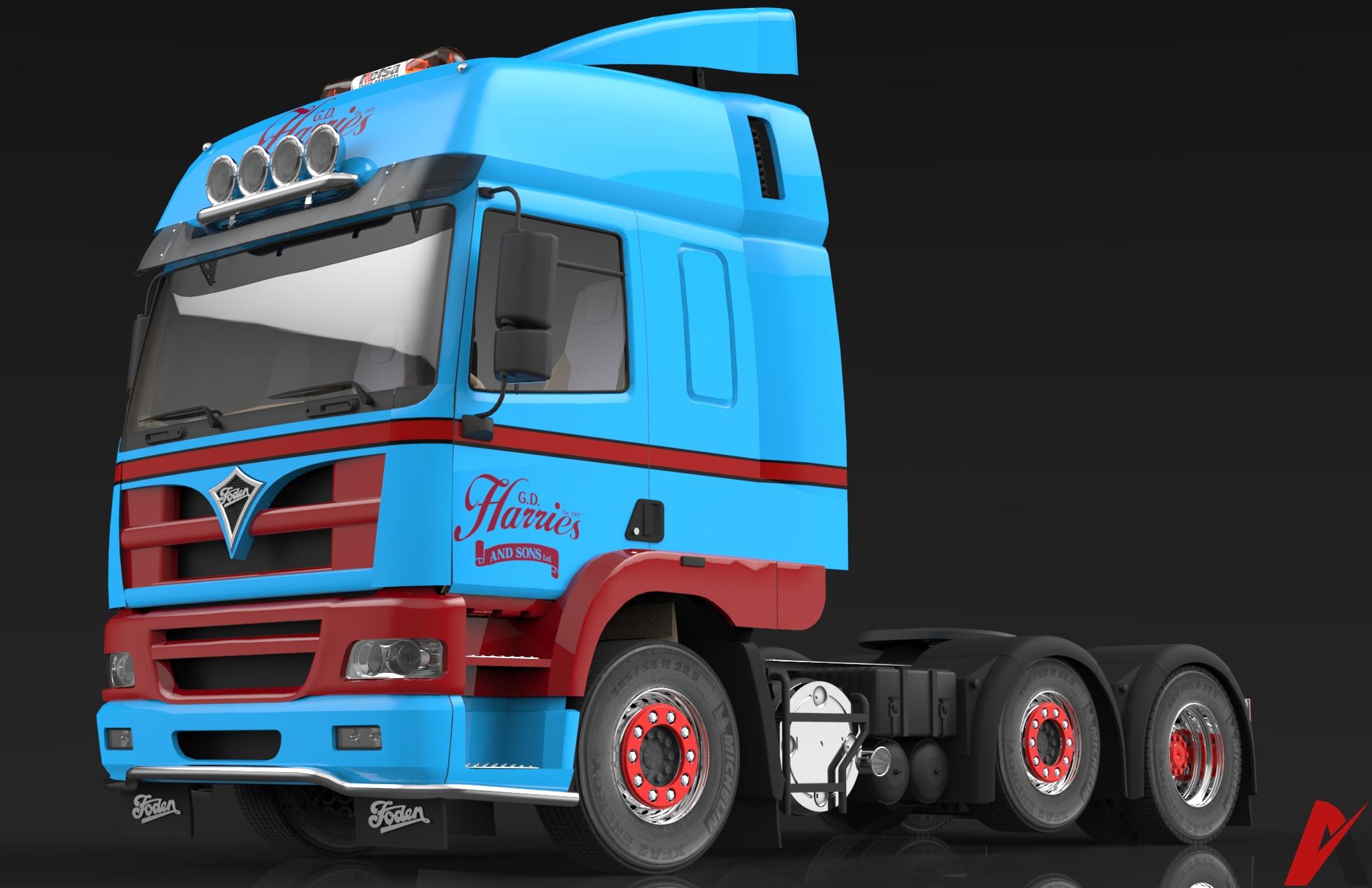 3D Foden Alpha 3000 Truck Model