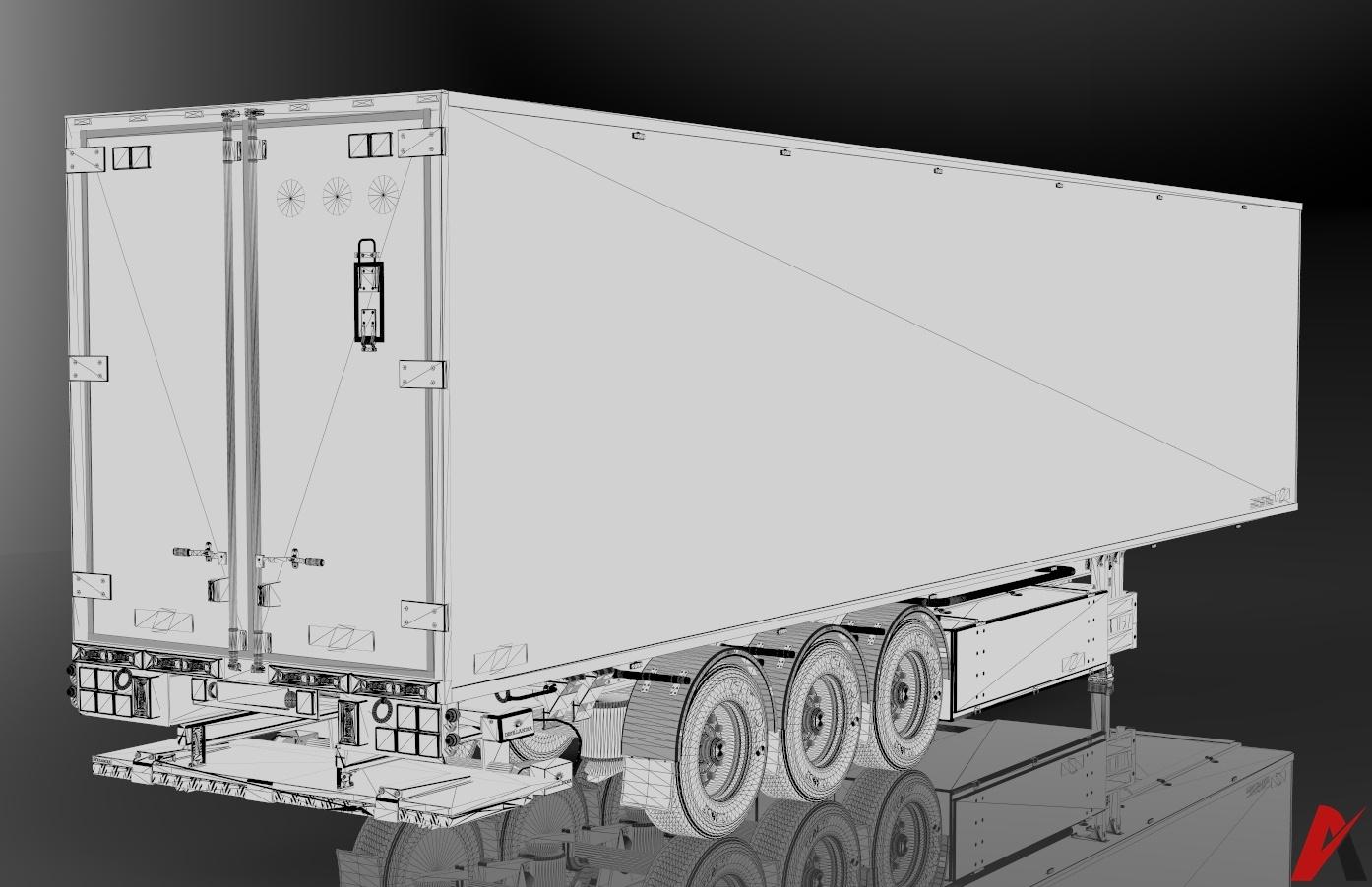 3D Chereau Trailer AGRARTECHNIK Edition Model