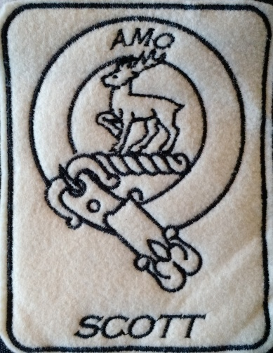 Scot Clan Crest, pes file, 2.2x2.7""