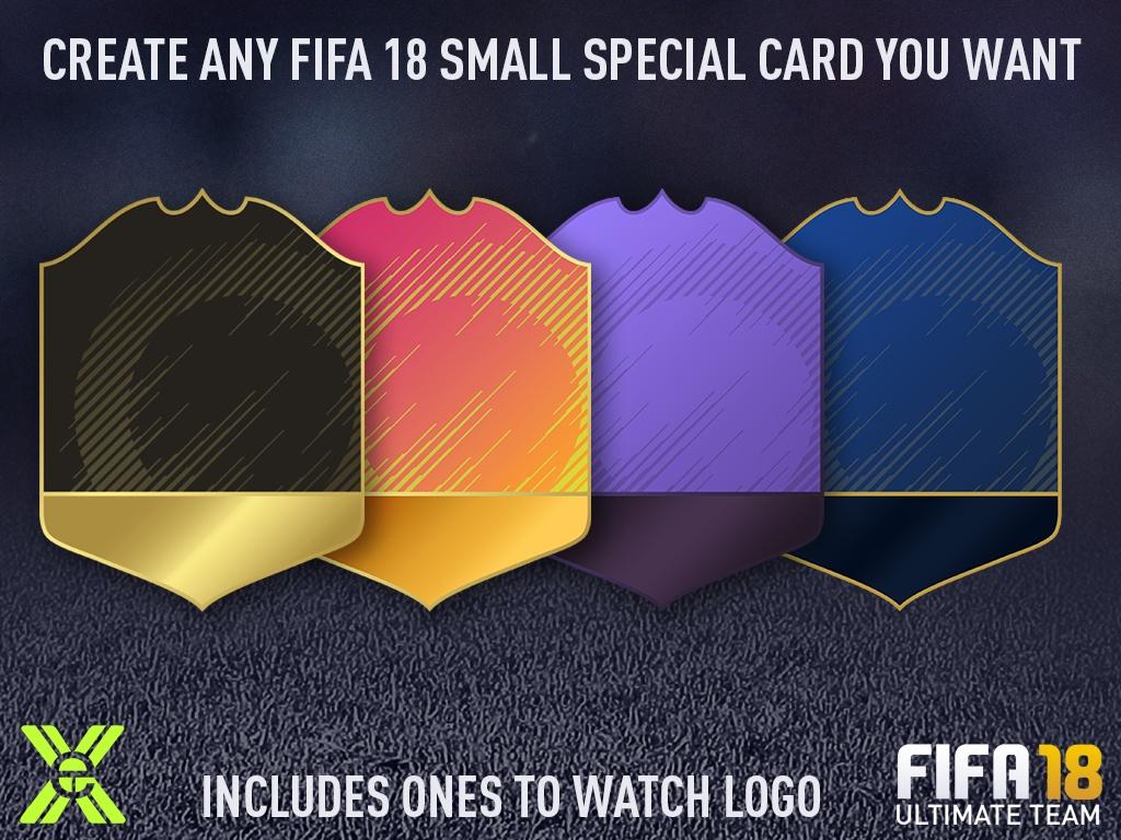 FIFA 18 SMALL SPECIAL CARD CREATOR