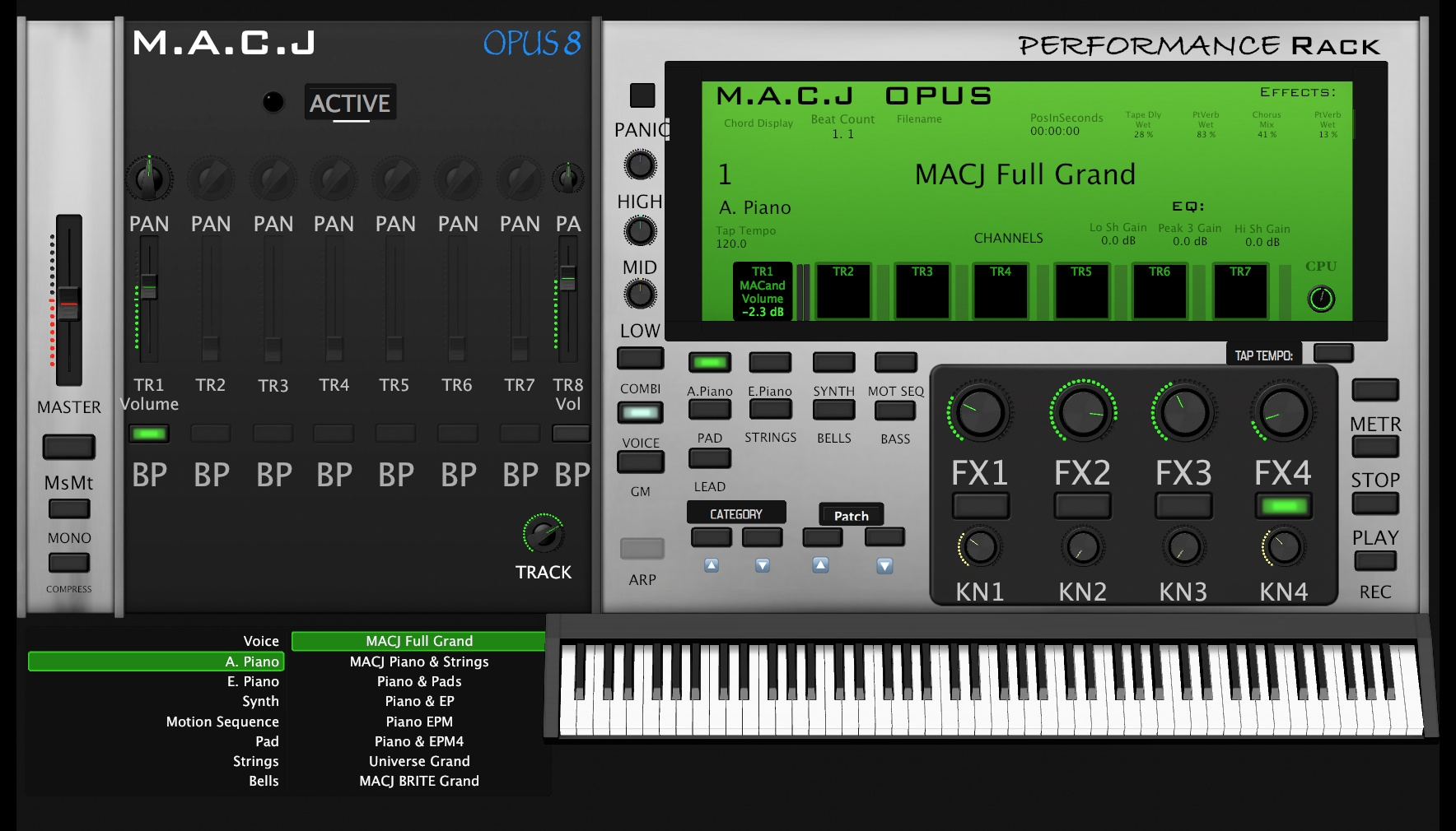 M.A.C.J OPUS 8 Performance Rack