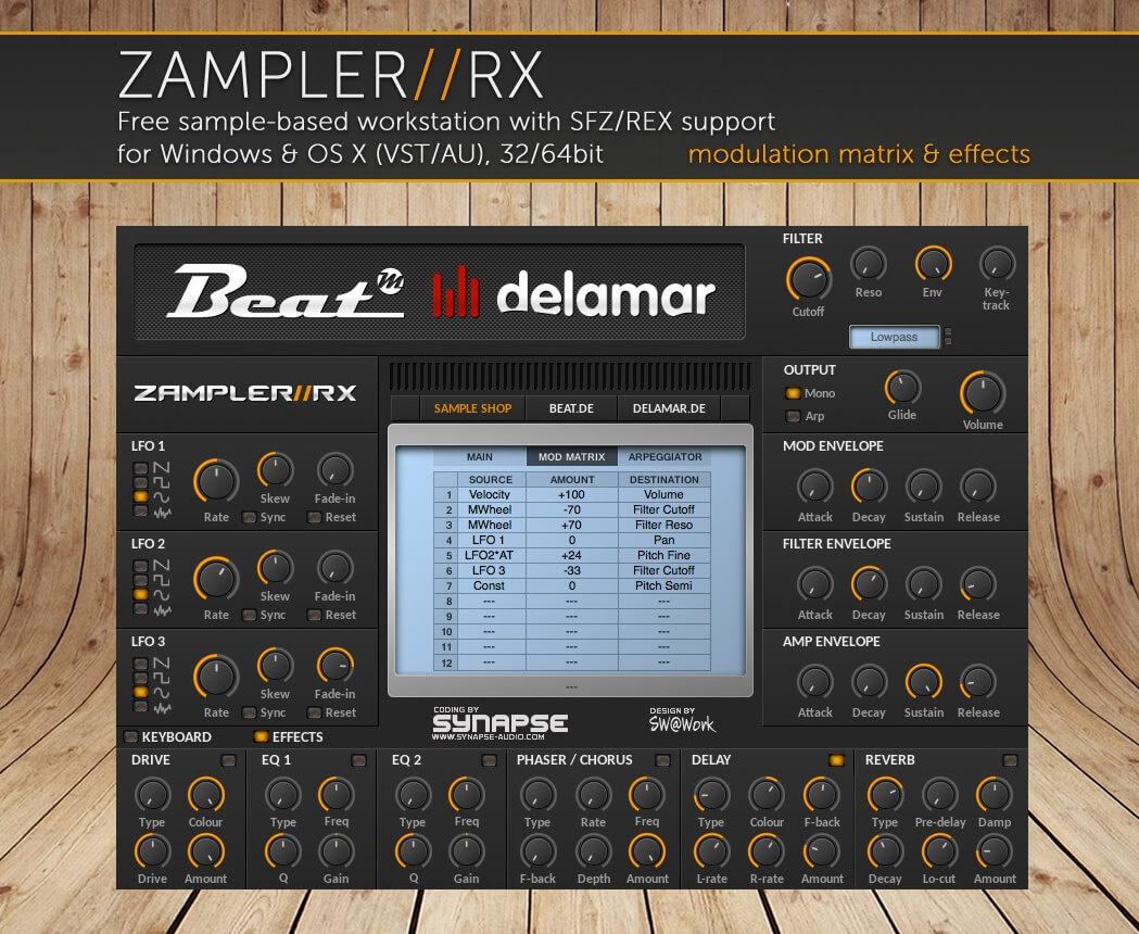 ROAAR – Arturia MiniBrute sound bank for Zampler//RX workstation (Win/OSX plugin included)