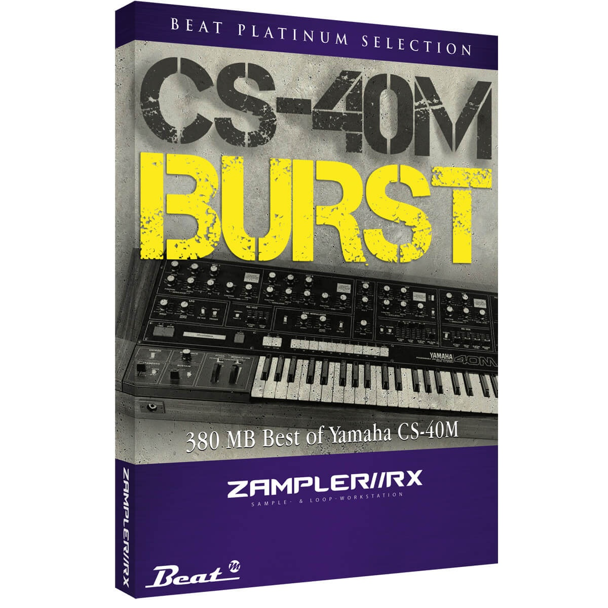 CS40-M BURST – Vintage sound bank for Zampler//RX workstation (Win/OSX plugin included)