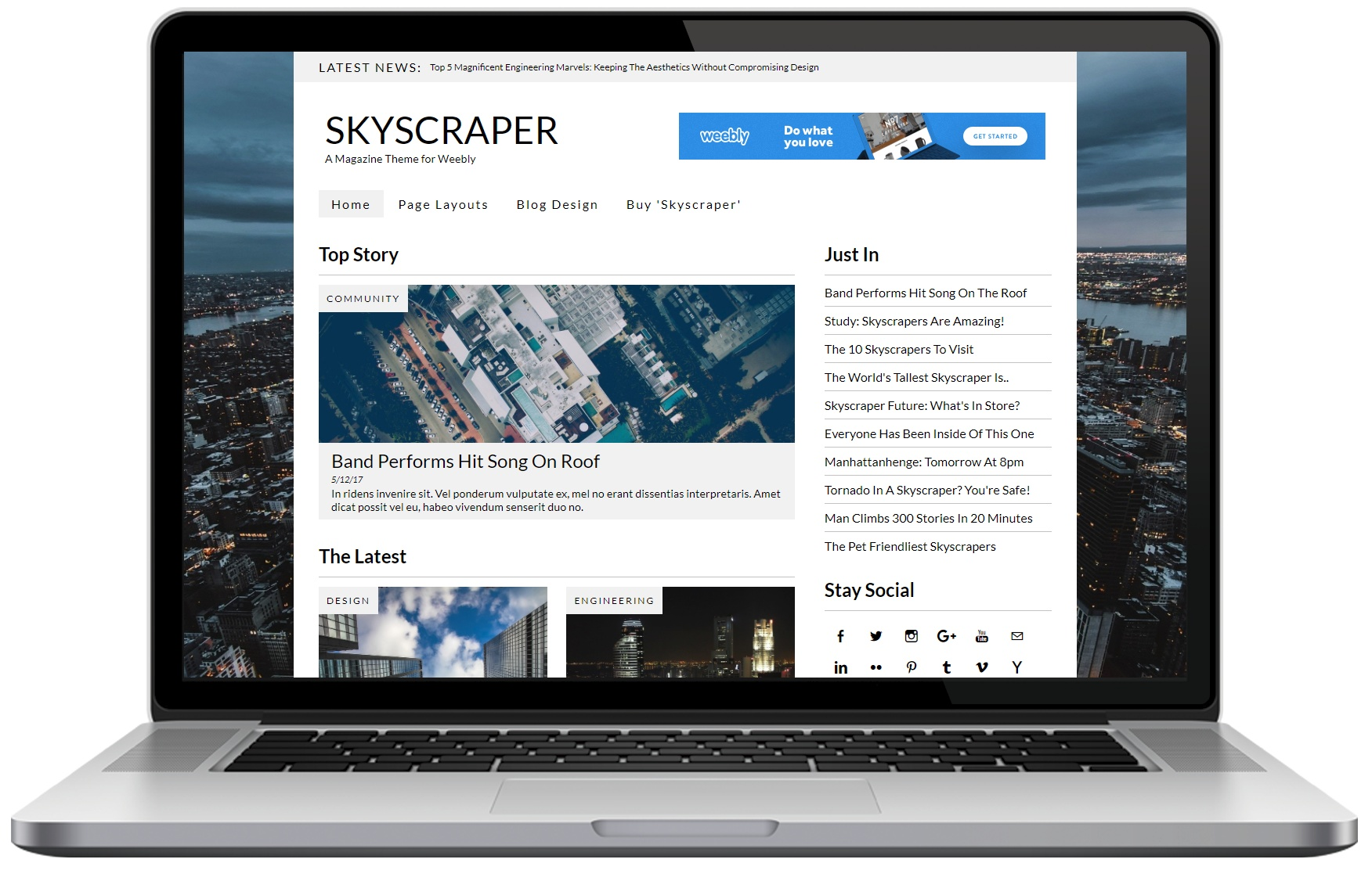 Skyscraper (Weebly Theme)