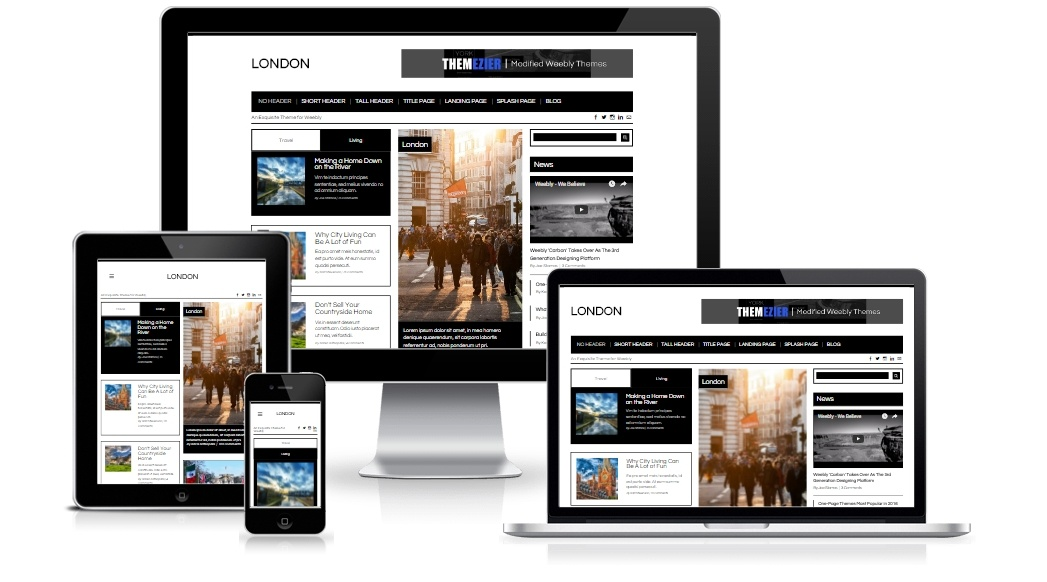 London Weebly Theme