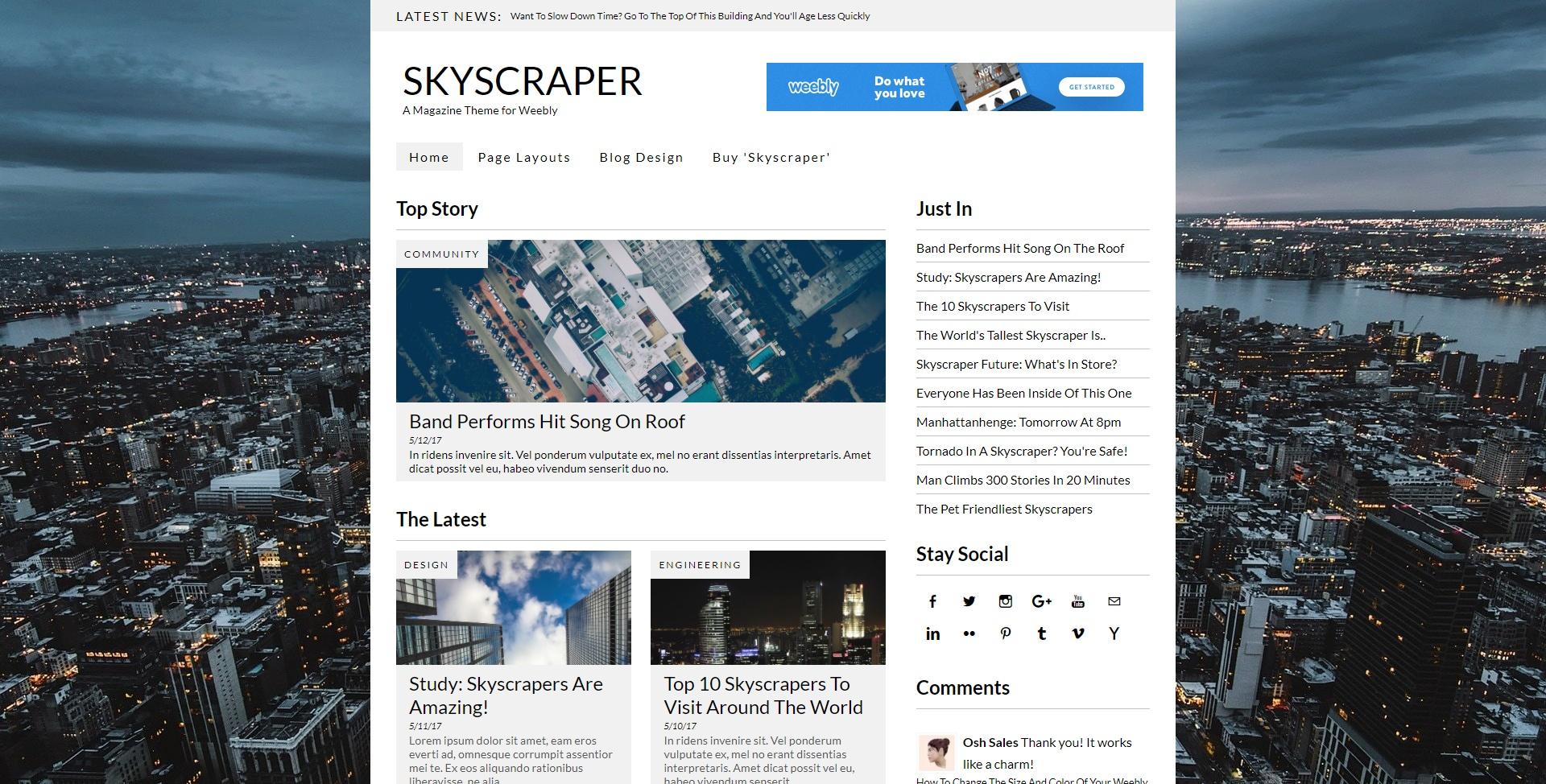 Skyscraper (Weebly Theme)