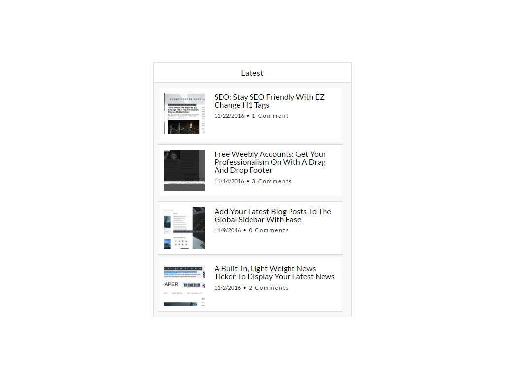 Latest Posts (Weebly Style) Weebly Widget
