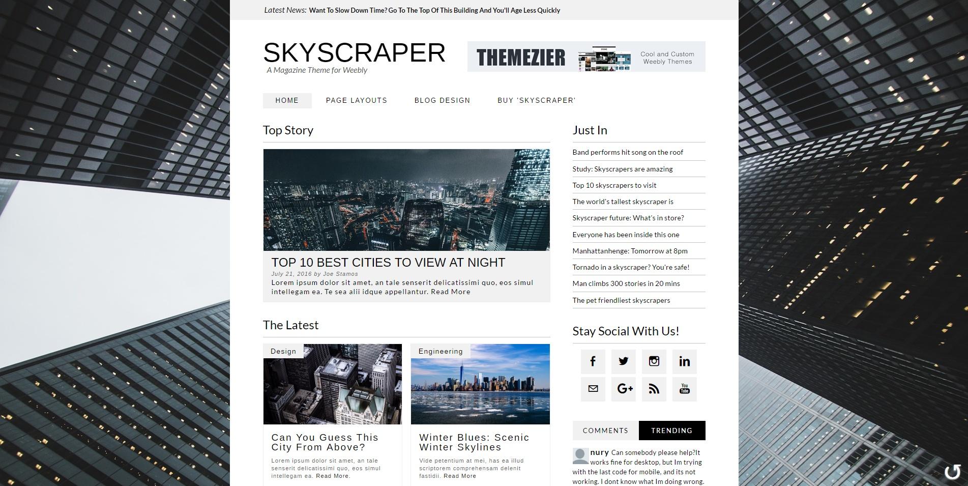 Skyscraper Weebly Theme